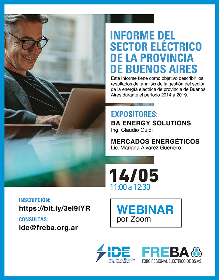 WEBINAR | Informe del Sector de Energía Eléctrica de la PBA